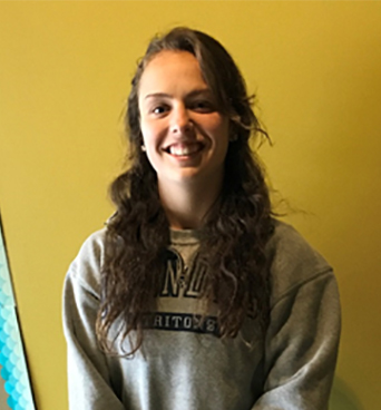 """COLLEGE BOUND Senior Rebecca Walker will be leaving all of her high school friends behind when she attends Marquette University next year. Walker says, """"I'm going to use Snapchat a lot while in college in order to stay in contact with my friends."""""""
