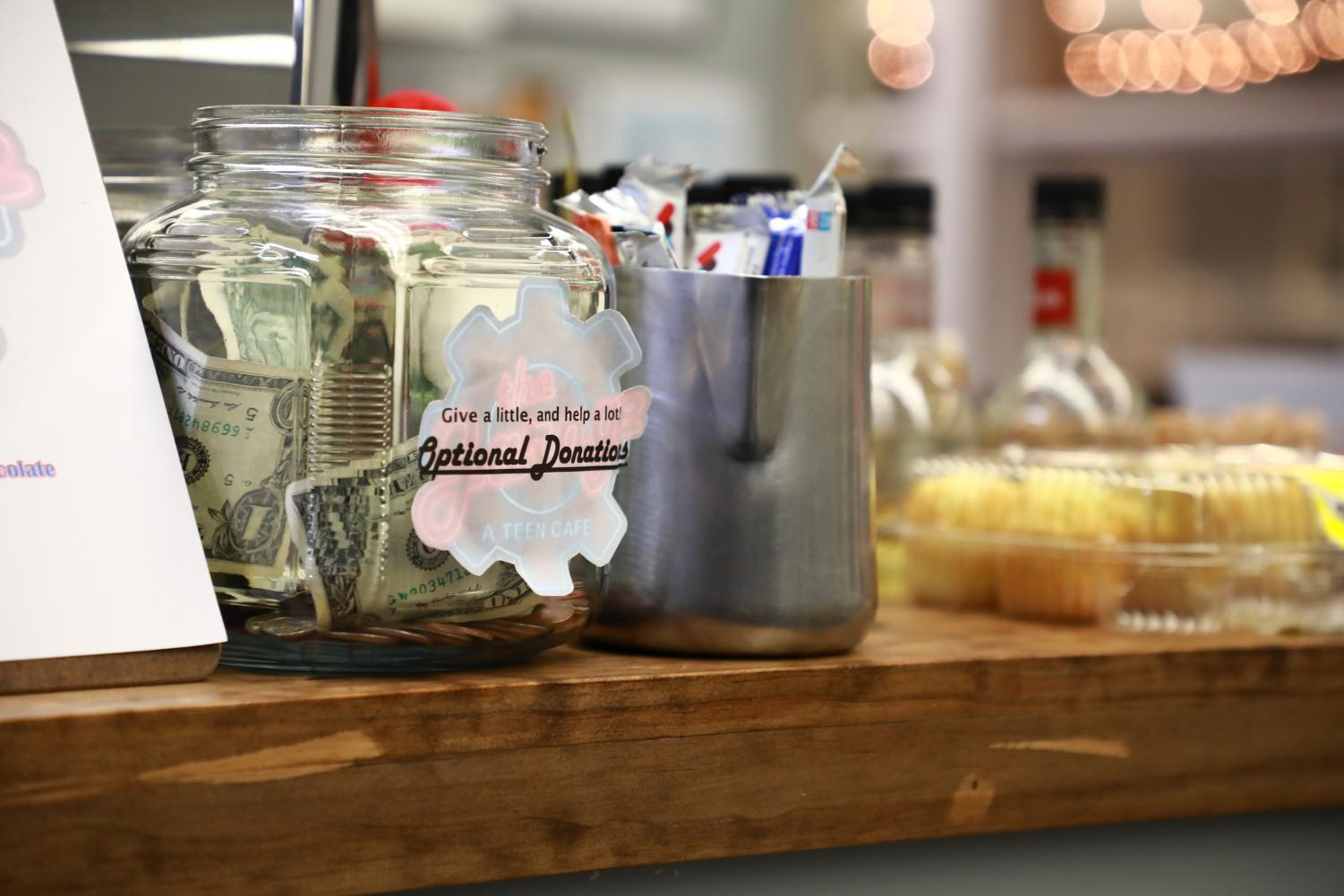 A LITTLE GRATITUDE. At The Garage, a free teen café in Issaquah, accepts optional donations that allow patrons to tip only if they want to. Restaurants with an optional tip allow customers to reward exceptional service but do not make servers reliant on tips for their income.