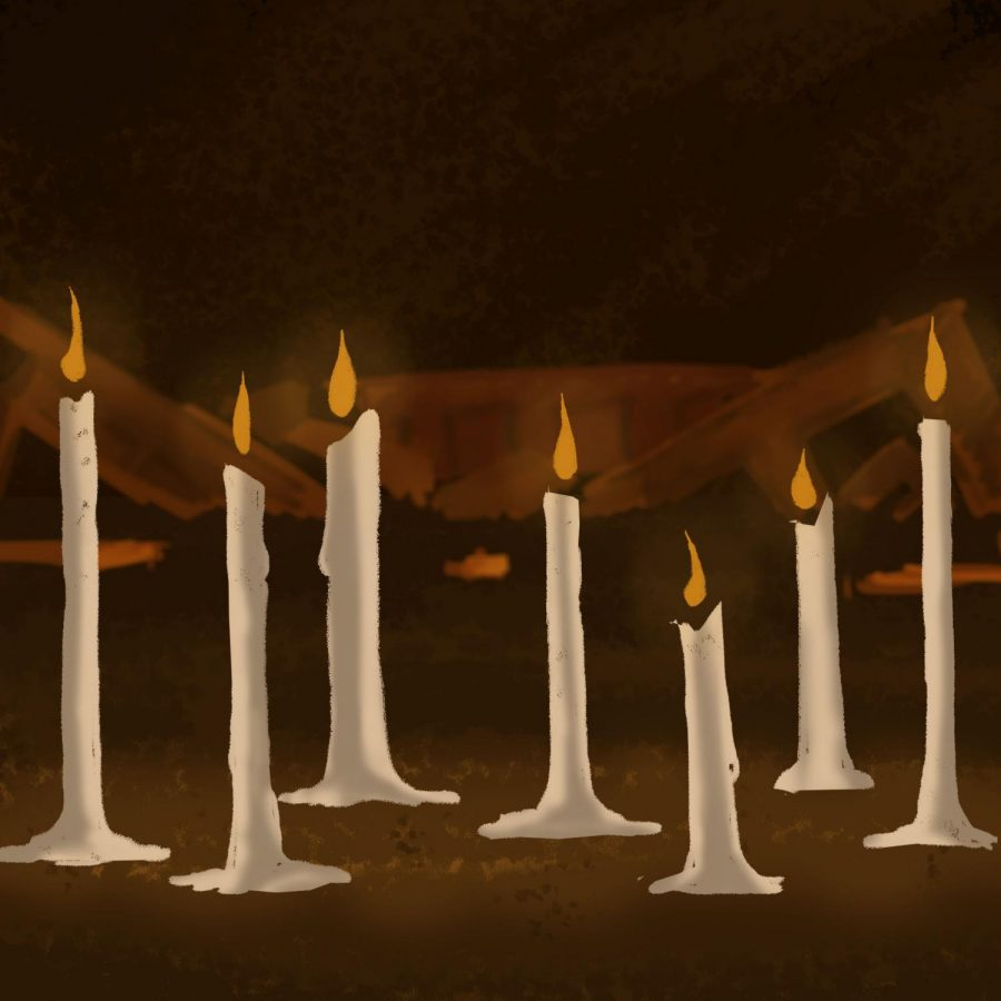 SEARCHING FOR PEACE: In the aftermath of the Sri Lanka bombings, candles  symbolize the mourning for those who perished in the attacks.