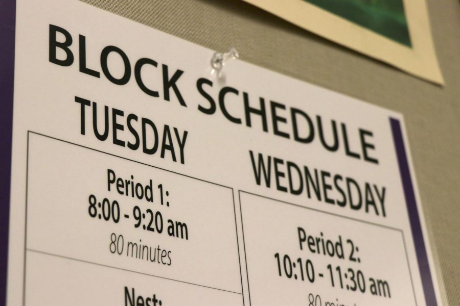 NEW YEAR, NEW SCHEDULE! A new seven period modified block schedule has been introduced to Issaquah High School for the 2019-2020 school year. The results are promising more opportunities for students to take electives, AP classes, and explore career options.
