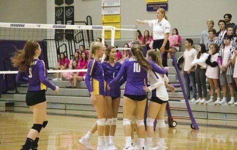 Varsity Volleyball beats Skyline Three All
