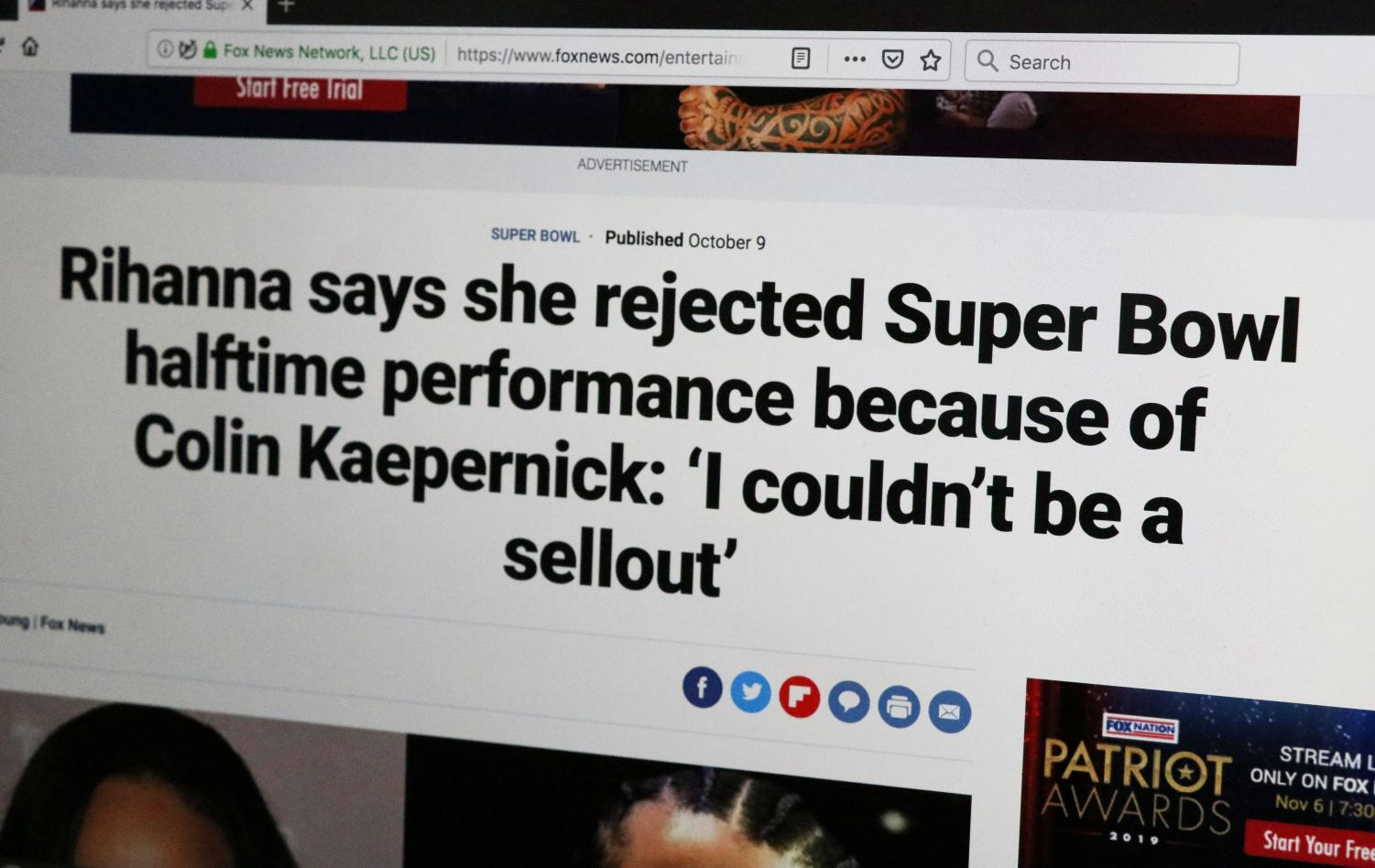 HALFTIME CONTROVERSY: Major artists like Rihanna still refuse to associate themselves with the NFL. Shakira and Jennifer Lopez are set to headline the 2020 Super Bowl, but the NFL has yet to separate it's image from the Colin Kapernick situation, and the debate continues to this day.