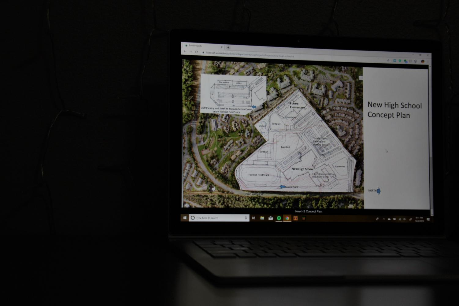 PLANS FOR A NEW HIGH SCHOOL: Here we can see the plans for the new high school, supposed to be finished in September of 2022. The lot will be squished right next to the retirement area of Providence point. The lot may contain a high school, elementary school, parking lot, track, baseball fields, and much more.