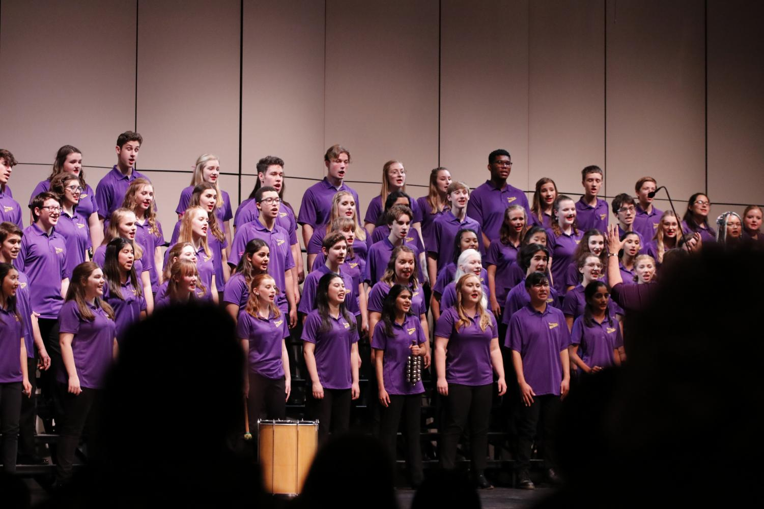 LARGE ENSEMBLE: Concert Chorale is the final group to perform at the annual Candlelight Concert.